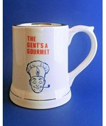 """Vintage  Beer Stein / Mug  """"The Gent's A Gourmet"""" Wade English Ironstone - $14.50"""