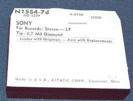 N1554-7d STYLUS NEEDLE for Sony VX23P VANITY FAIR Sony VX-23P 613-D7 image 3