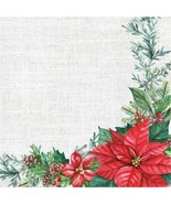 Nature's Gift 90 Ct 2 Ply Luncheon Napkins Value Pack Winter Poinsettia - $15.24