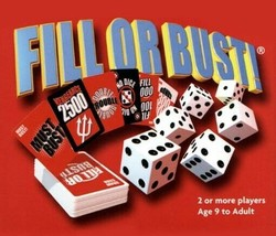 (2) Fill or Bust Game Dice Card Travel Family Bowman Games Fun - $19.20