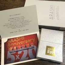 Arashi Anniversario Tour Fan Club Limitata Swarovski Crystal Rosso Johnn... - $73.40