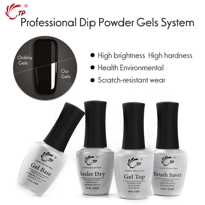 14Ml Brush Saver Activator Gel Base&Top For Nail Dip Powder Natural Dry Without