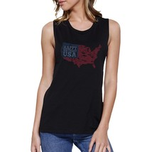 Happy Birthday USA Womens Black Cap Sleeve Funny 4th Of July Tank - $14.99