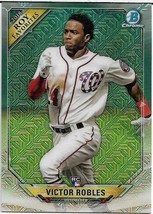 2018 BOWMAN CHROME MEGA BOX MOJO ROY FAVORITES VICTOR ROBLES RC NATIONALS - $1.99