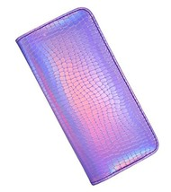 Long Wallet for Women With zipper Holographic Clutch Wallet Pouch Purse ... - $17.47