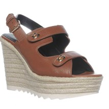 Coach Electra Slingback Espadrille Sandals, Saddle, 10 US - $76.79