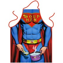 Funny Apron - Soup man Best Gift for Him Gift for Friends Joke Party - $27.99