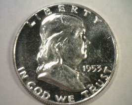 1953 FRANKLIN HALF DOLLAR CHOICE PROOF / GEM CAMEO CH. PR /GEM CAM ORIGI... - $165.00