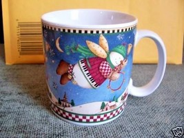 Sakura Debbie Mumm Snow Angel Village Cups Mugs 3 Lovely - $9.41