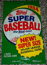 New 1984 Topps Super Size MLB Baseball Picture Card Pack - Gary Carter - $5.93