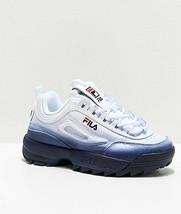 Damen Fila Disruptor II Premium Fade Blau Athletic Schuhe Neu 2 - $110.22