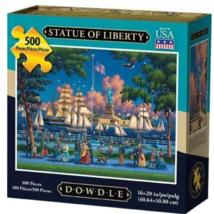 Dowdle Jigsaw Puzzle Folk Art Statue of Liberty 500 Piece 16x20 - $31.88