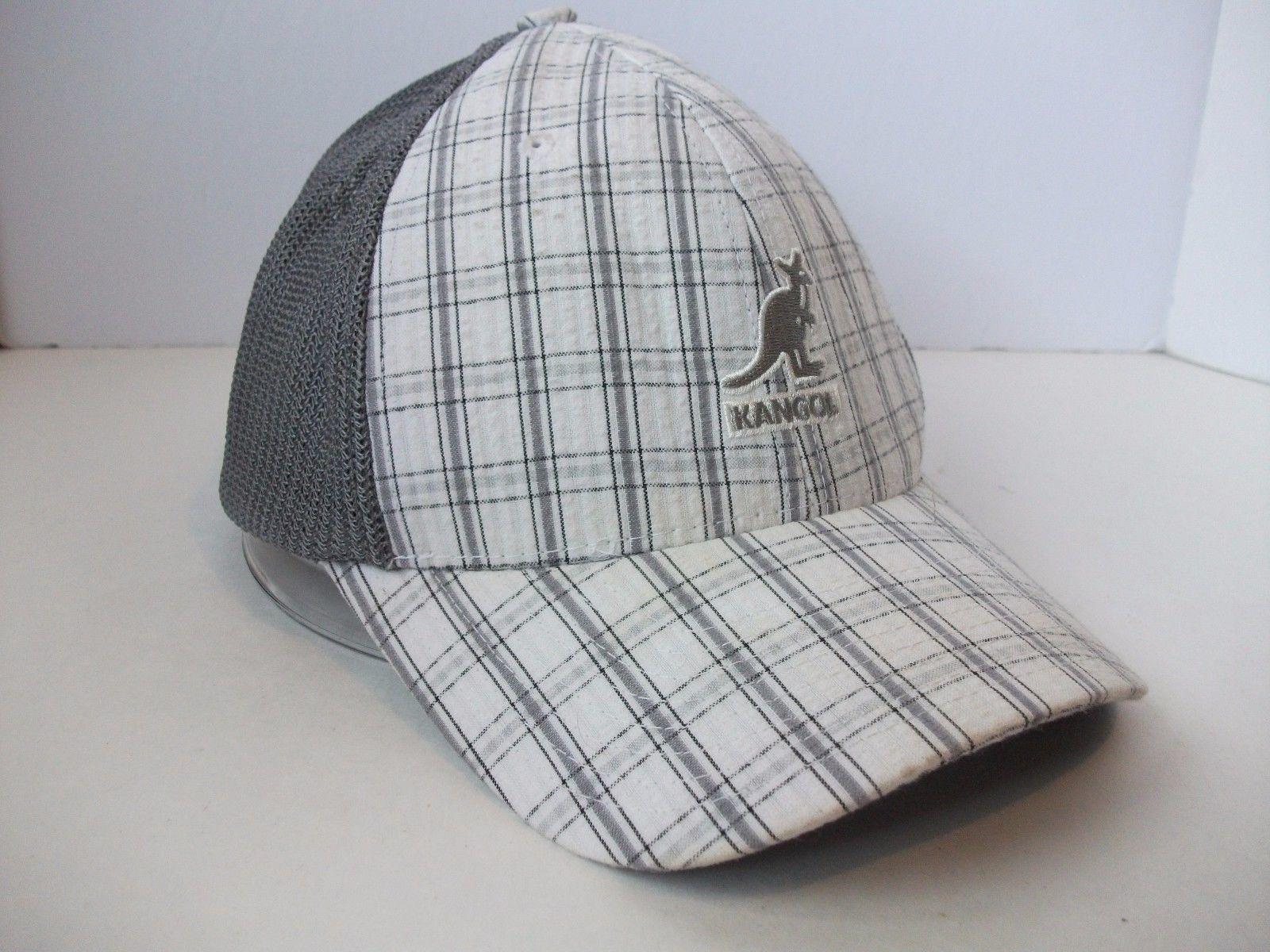 4c871f59fd7 Kangol Gray Puckered Plaid Hat L XL Trucker and 35 similar items