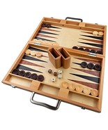 Duboce Inlaid Walnut, Beech, Sapele, and Bass Wood Backgammon Board Game... - $204.24