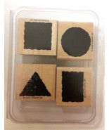 Stampin' Up LITTLE SHAPES Set of 4 Rubber Stamps 2000 NEW - $9.99