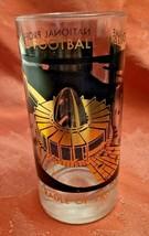 "VINTAGE NFL NATIONAL FOOTBALL HALL OF FAME GLASS TUMBLER 5.5"" MAN CAVE"