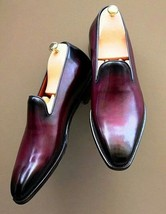 Men's Handmade Ox Blood Patina Loafers, Custom Made Shoes for Men - $144.99+