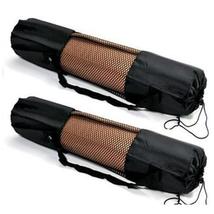 Portable Yoga Pilates Mat Nylon Bag Carrier Mesh Centre Adjustable Strap - $53,54 MXN