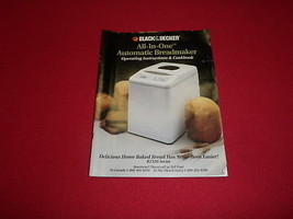 Black and Decker Bread Maker Machine Manual and Recipes Model B1550 - $14.01