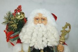 Roman Incorperated Detailed Santa Figurine Holding Filigree Gold Staff image 2