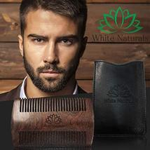 Limited Time Sale! Beard Comb for Men, Wooden Natural Sandalwood,Fine Dual Actio image 3