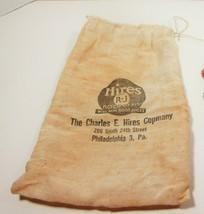 Vintage 1938 Hires R-J  Root Beer Cloth Bag Philadelphia Real Root Juices - $37.39