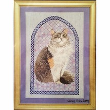 Agneatha Cathedral Patchwork Counted Cross Stitch Kit Ivory Cats Designs... - $22.99