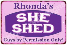 Rhonda's Purple & Pink SHE SHED Vintage Sign 8x12 Woman Wall Décor A8120... - $16.95+