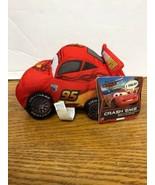 Disney Pixar- Cars 2- Lightning McQueen Just Play Crash Em Plush Toy Dol... - $9.95
