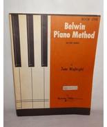 Belwin Mills Book One Piano Method Sheet Music 1964 USA Beginner - $16.68
