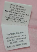 RuffleButts RLKP1000000 Infants Pink Ruffle Footless Tights Size 0 to 6 Months image 4
