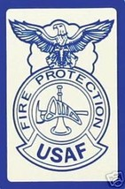 USAF AIR FORCE FIRE PROTECTION BADGE MILITARY STICKER  DECAL - $16.14