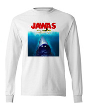 JAWAS Star Wars long sleeve T-shirt C3PO JAWS retro 70s parody100% cotton image 2