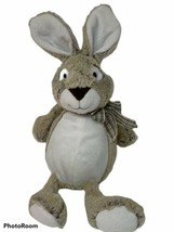 "Animal Adventure Plush Tan Bunny Rabbit 12"" Soft Stuffed Animal Plaid Bo... - $12.86"