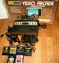 1982 Atari Sears Tele-Games Video Arcade Cartridge System with 6 Games in box - $143.55