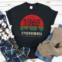 LGBT Pride 1969 Stonewall The First Pride Was A Riot T Shirt Black Ladie... - $19.50+