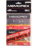 MEMOREX 90 MINUTE NORMAL dB CASSETTE TAPES LOT OF 2 - $4.00