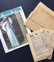 Vogue Bridal Sewing Pattern Vtg 2315 1960s Bride Bridesmaid Formal Dress... - $76.22