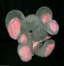 "12"" VINTAGE GOFFA INTERNATIONAL GRAY PINK ELEPHANT STUFFED ANIMAL PLUSH ... - $27.70"