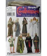 Nativity Christmas Costumes Adult Angel Shepherd Mary Simplicity Pattern... - $10.00
