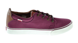 Levis Justin Men's Exclusive Fashion Sneakers Wine-White 516250-32r - $49.95