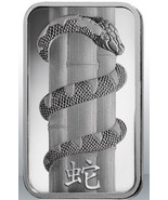 Set of 2 - Pamp 1 oz and 10 gram Silver Bars - 2013 Lunar Year Of The Snake - $43.99