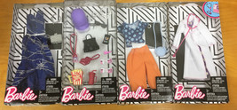 NEW Barbie Fashionistas Lot of 4 Outfits & Accessories, Mattel, Spring D... - $33.85