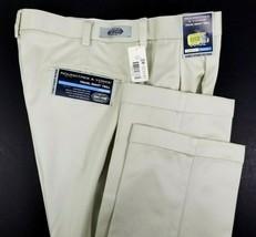 Roundtree & Yorke Mens Pants NEW Size 36 x 32 Beige Classic Fit Travel S... - $29.26