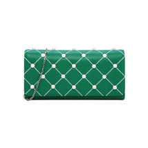 Charles & Keith Embellished Quilted Wallet Chain Clutch Small Shoulder B... - $679,50 MXN
