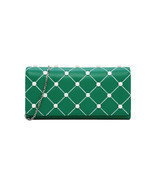 Charles & Keith Embellished Quilted Wallet Chain Clutch Small Shoulder B... - $39.79 CAD