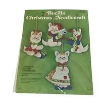 Bucilla Three Little Kittens Jeweled Ornaments Christmas Needlecraft #28... - $17.41