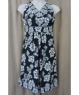 Charter Club Petite Dress Sz 10P Classic Black White Combo Sleeveless Ca... - €35,56 EUR