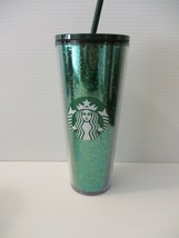 Starbucks 16oz Twist Lid Tall Tumbler Travel Mug Cup Holiday Sparkle Gli... - $19.99