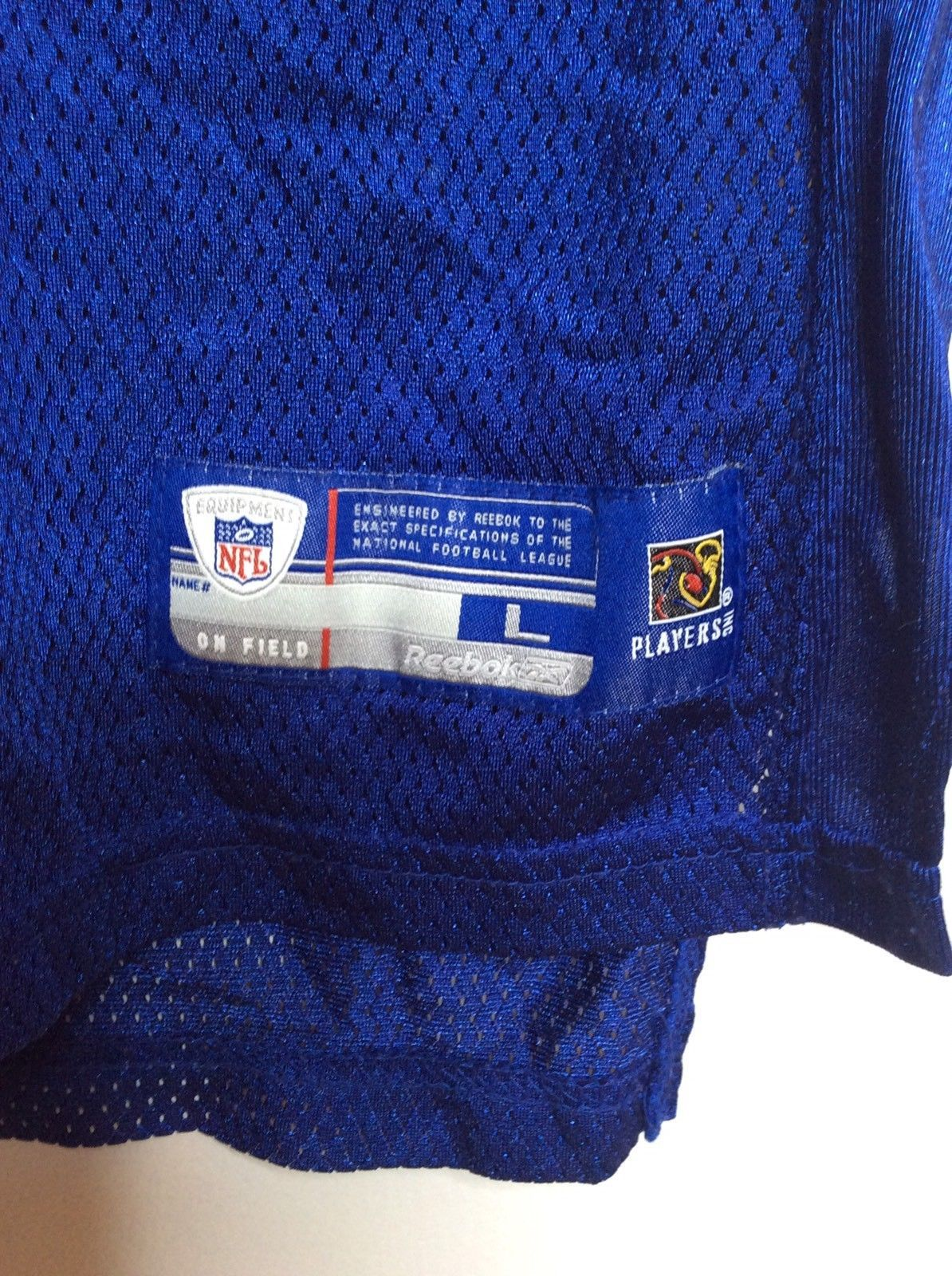 Reebok NFL New York Giants 21 Tiki Barber Football Jersey Blue Youth Large 14-16 image 6